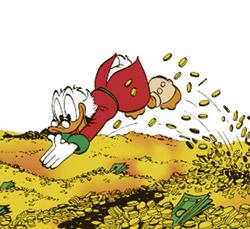 Dagobert Duck Geld