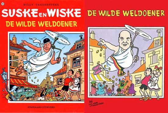 Suske en Wiske verontwaardigd over kalender Vlaams Belang - Michael Minneboo