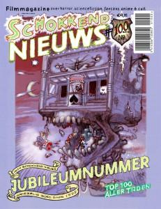 Peter Pontiacs cover voor Schokkend Nieuws #100.