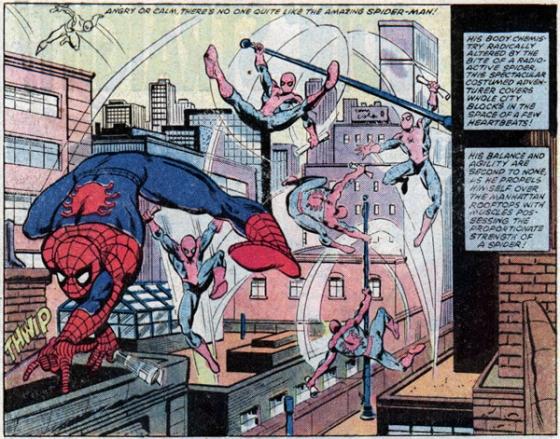 Een Spider-Man illustratie uit de vroege dagen van Romita's carrière uit AMS #227.