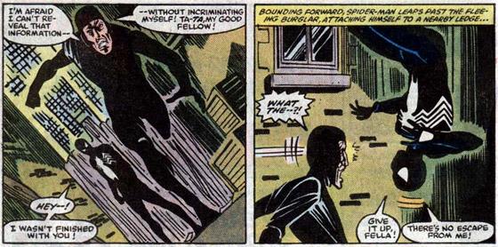 The Black Fox kan niet zomaar aan Spidey ontsnappen.