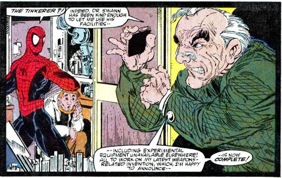 ASM #310. Na jaren loopt Spidey the Tinkerer tegen het lijf.