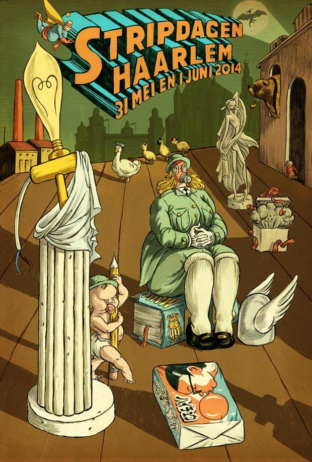 Affiche-Stripdagen-2014_typex