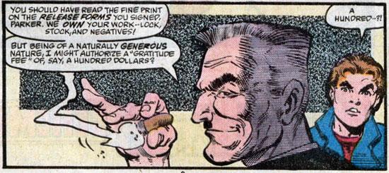 Jameson legt uit hoe Peter als freelancer genaaid wordt.