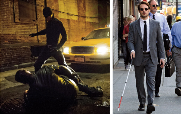 Charlie Cox als Daredevil & Murdock.