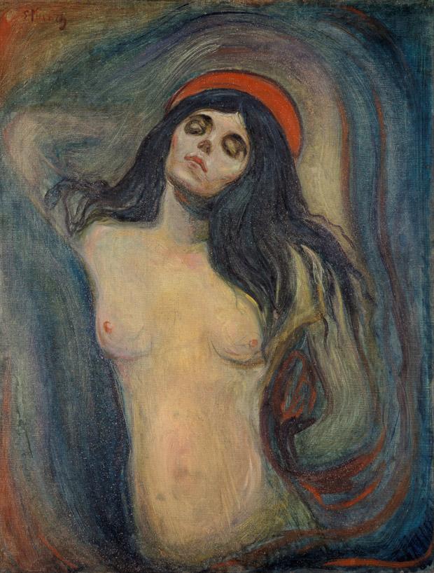 Madonna. Edvard Munch. Bron: Google Art Project