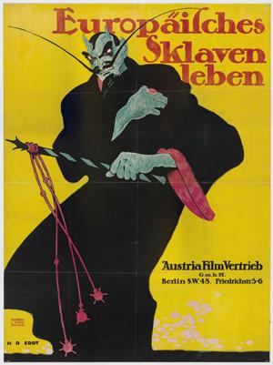 Europäisches Sklavenleben, 1912 , affiche, DU, 125 x 94 cm Collectie EYE.