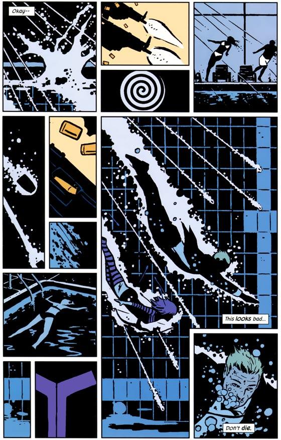 Pagina uit Hawkeye #2.