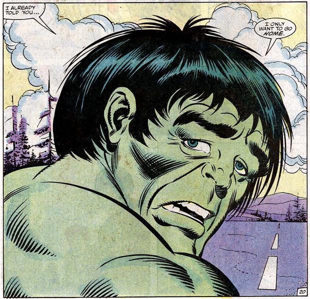 De intelligente Hulk wil gewoon naar huis.