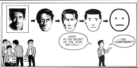 Scott McCloud spreekt de lezer toe en legt uit hoe strips werken.