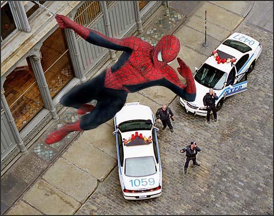 spider-man politie-auto's