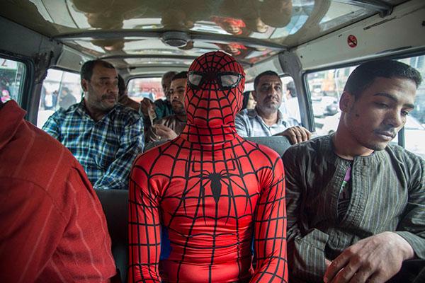 Spider-Man-egypte-busje