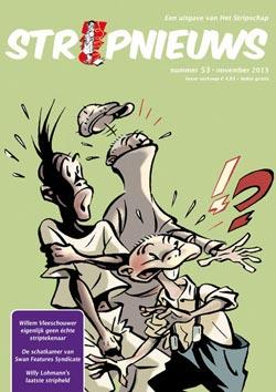 Cover van StripNieuws #53 getekend door Willem Vleeschouwer.