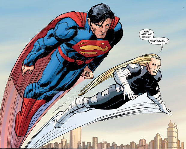 Superman en Ulysses uit 'Superman #33.'