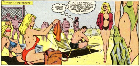 Dat zien we niet veel: Peter Parker op het strand.