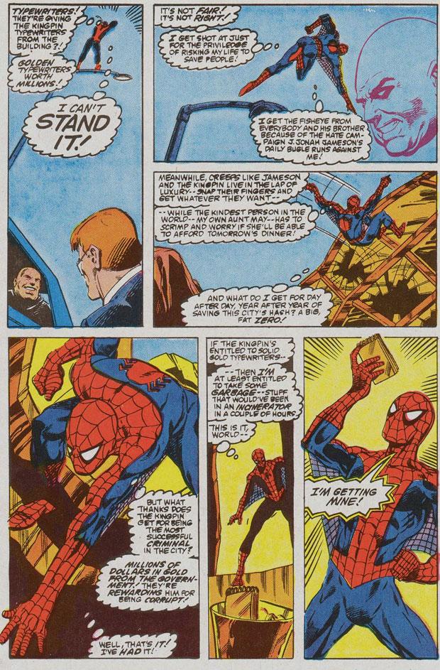 Uit: Web of Spider-Man #6.
