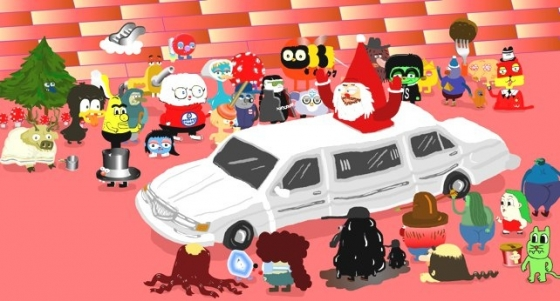 Evil Santa parade.