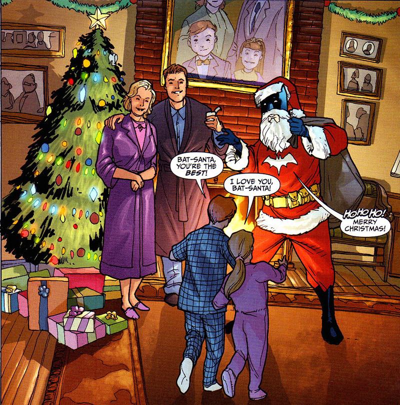 Bat-Santa. Pete Woods. Bron: splooosh.tumblr.com