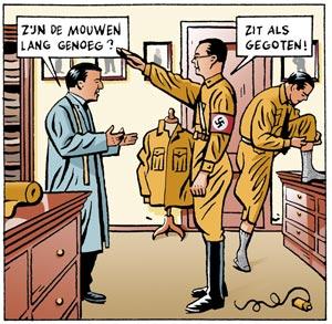 Bernhard heulde graag met de duivel. Fragment uit Agent Orange. Illustratie: Erik Varekamp.