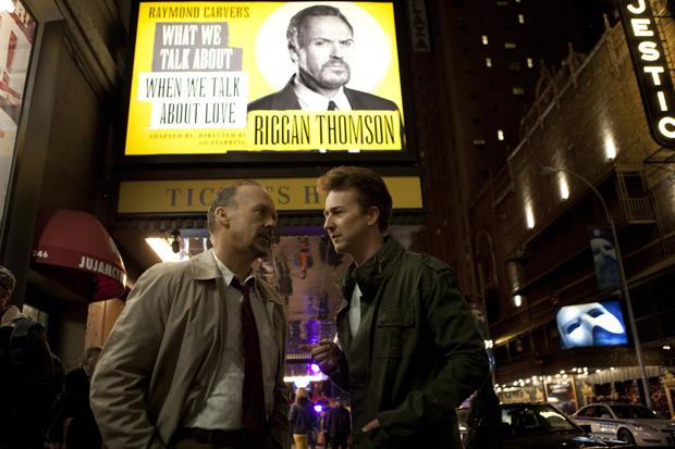Keaton en Norton in 'Birdman'.