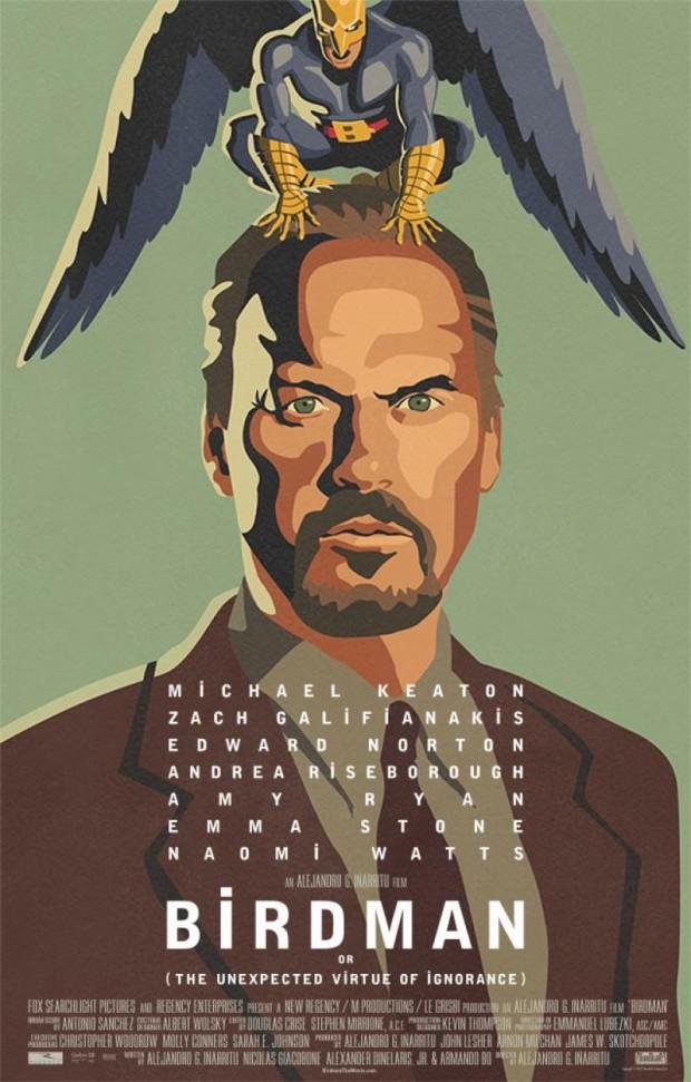 Het prachtige affice van 'Birdman'