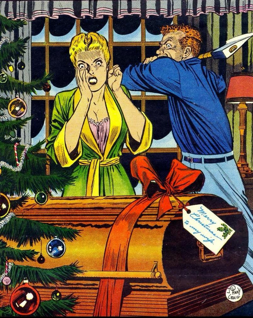 Merry Christmas, to My Wife - art by Johnny Craig (1954). Bron: atomic-chronoscaph.tumblr.com
