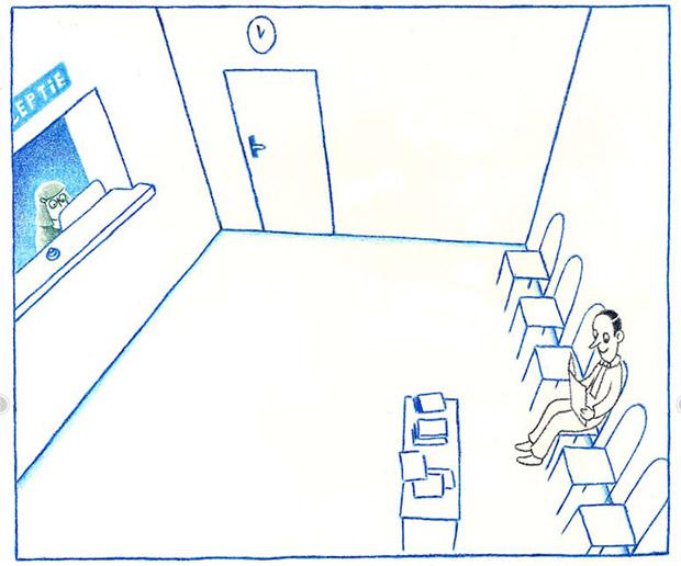 Openingsscène uit De wachtkamer