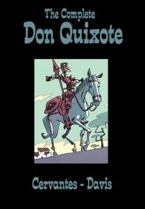 Omslag van de prachtige stripbewerking van Don Quichote door Rob Davis.