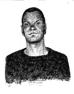 Frits Jonker geportretteerd door Fred de Heij.