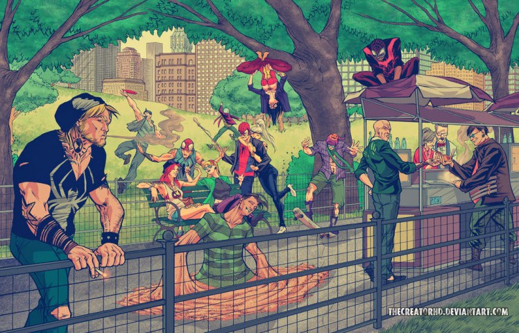 hipster_spiderman_family_by_thecreatorhd