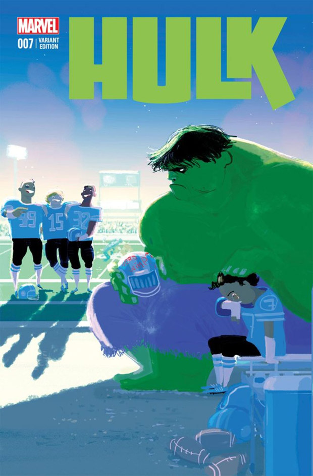 Variant cover van Hulk #7. Illustratie: Pascal Campion.