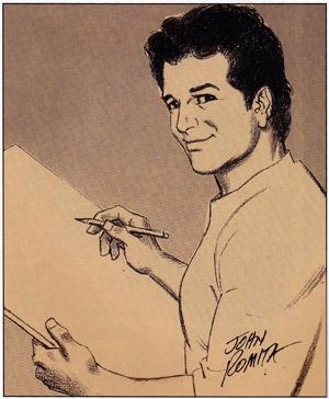 John Romita Jr. geportretteerd door zijn vader.
