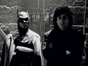 Keaton en Burton op de set van 'Batman'