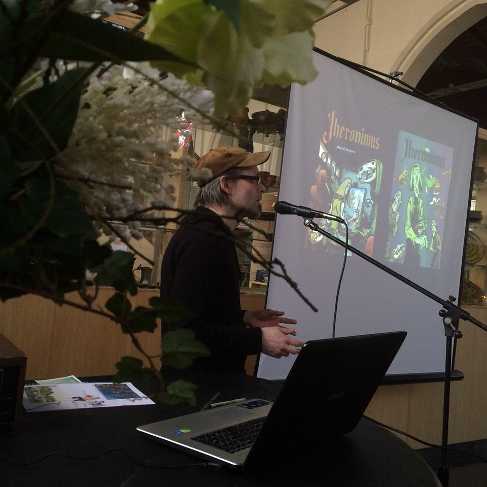 Marcel Ruijters vertelt over Bosch. Foto: Natasja van Loon.