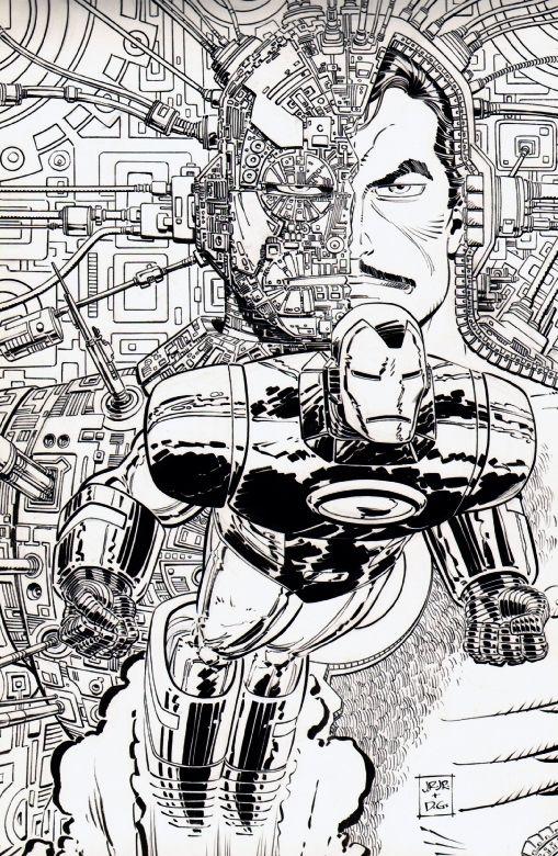 De geinkte versie van de cover van Marvel Age 119 door John Romita Jr. en Dan Green.