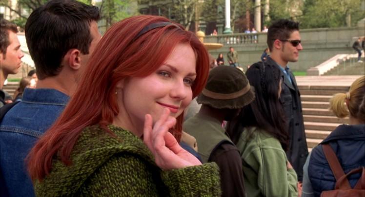 Kirsten Dunst als Mary Jane Watson in 'Spider-man' uit 2002. Een film die ik natuurlijk ook meer dan een keer zag en niet alleen vanwege Kirsten Dunst.