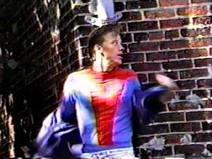 Dan Poole speelt de hoofdrol in zijn eigen Spider-Man-film.