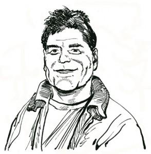 Willem Ritstier getekend door Fred de Heij.