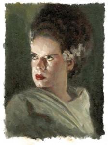Portret van Elsa Lanchester als de Verloofde van Frankenstein. © Fred de Heij/ Xtra