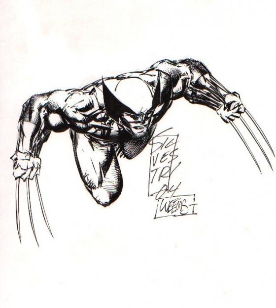 Wolverine. Illustratie: Marc Silvestri. Bron: unpublishedxmen.blogspot.com