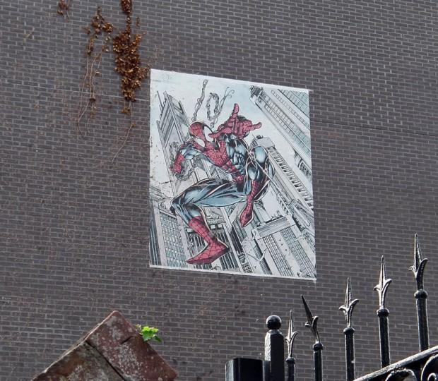 Spider-Man Muur in de Meerten Verhoffstraat, Breda. Foto: Michael Minneboo.