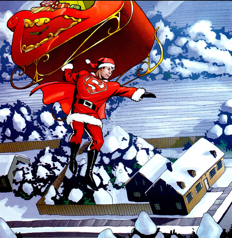 Super Santa. Pete Woods. Bron: splooosh.tumblr.com