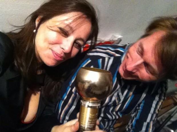 Tas & Tonio en de Hal Foster Award. Foto: Natasja van Loon. Een award selfie dus.