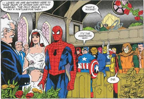 spider-man trouwerij nachtmerrie begin