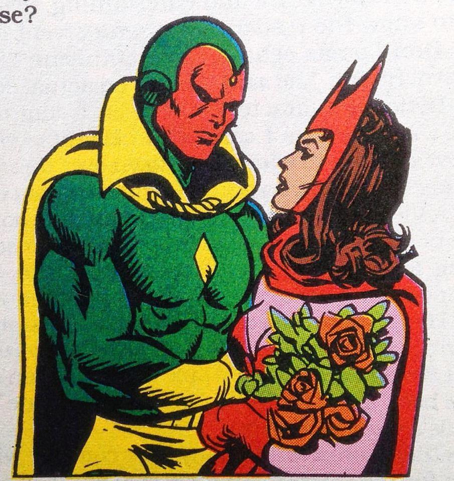 Een plaatje uit een van de Marvel Ages die ik laatst kocht.