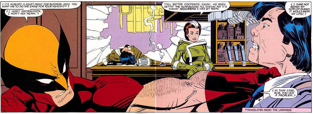 Wolverine en Rogue zijn samen op pad.