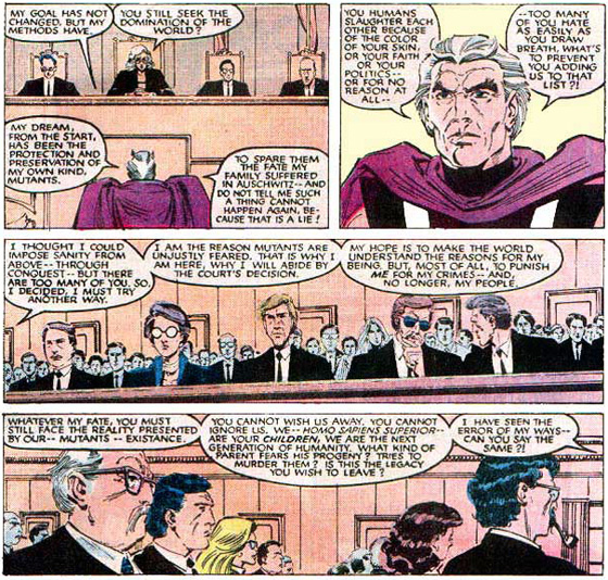 Magneto stands trial.