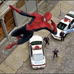 Spidey's web: Live-action foto's van Spider-Man