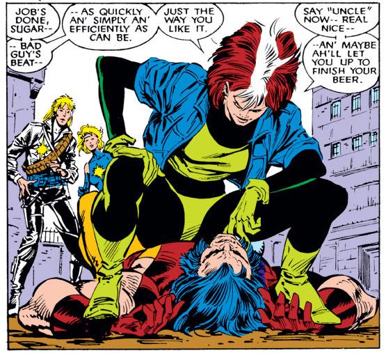 Rogue op Wolverine