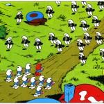 Stripplaatje onder de loep: Zwarte Smurfen